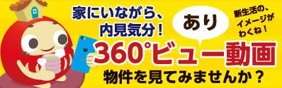 360°ビュー動画